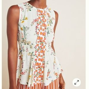 Farm for Anthropologie Floral Sleeveless Top, XL